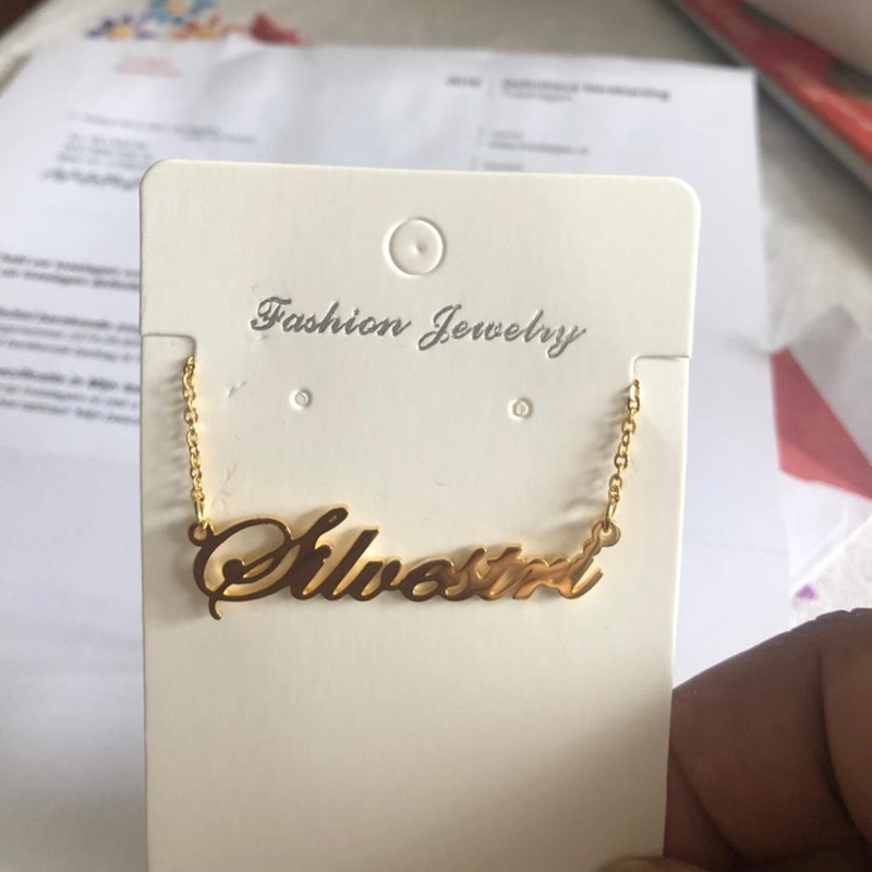 Personalized Name Necklace Stainless Steel Charm Custom Name Jewelry Any Name 11 Font Style To Choose For Girls Kids in Pendant Necklaces from Jewelry Accessories