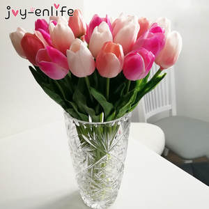 10pcs Beauty Real touch flowers latex Tulips Artificial Flower Bouquet Fake flower Wedding