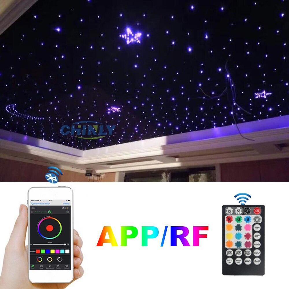 Волоконно оптический светильник 16 Вт мерцающий Bluetooth приложение умное управление Звездное управление музыкой автомобильный Звездный светодиодный светильник потолочный светильник для детской комнаты - 6