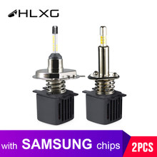 hlxg With SAMSUNG CSP Chips Lamp H4 Led H7 4 Sides 9005 HB3 Hb4 H11 H8 H1 Car lights 10000LM Fog Light Hi Low led Automotivo 12V(China)