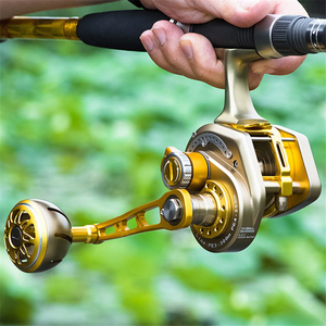 Image 2 - Rooxin Bait Casting Fishing Reel Full Metal Boat Sea Fishing Reel Saltwater Ocean Fishing Wheel Trolling Reel 15BB 30kg Drag