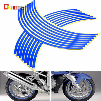 Motorcycle waterproof rim wheel reflective decals decoration sticker For Honda hornet 250 600 900 Gold Wing 1800 1500 CBR929RR image