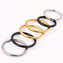 1PC Stainless Steel Simple Helix Tragus Nose Lip Ring Earrings Hoop For Women Men Punk Nose Ring Lip Piercing Jewelry Black Gold(China)