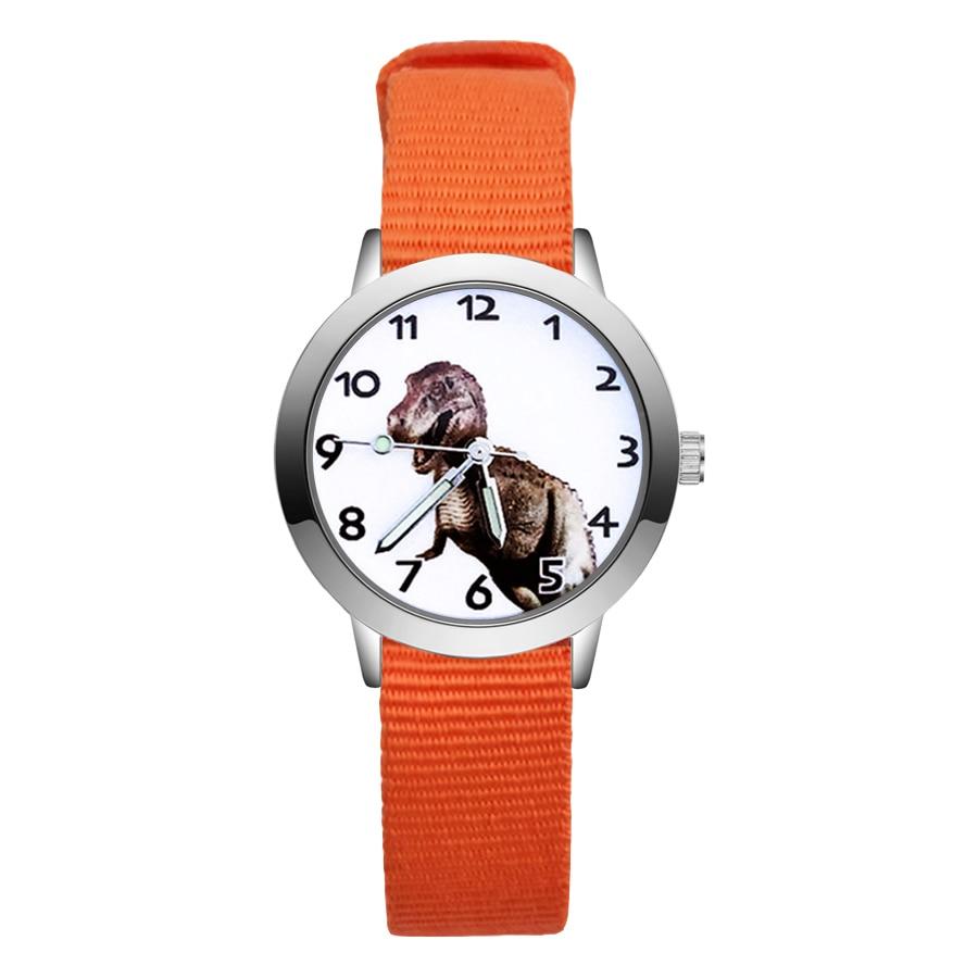 Giá bán Fashion Cartoon Cute Dinosaur Style Childrens Watches Kids Student Girls Boys Quartz Nylon Strap Wrist Watch JA48