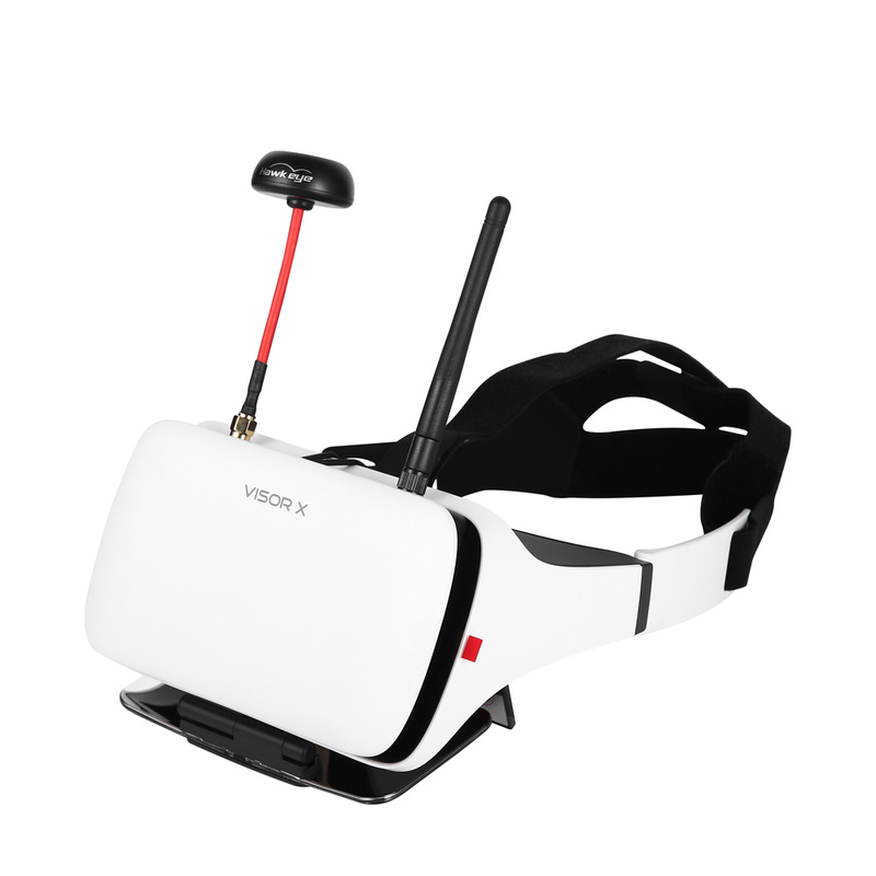 Hawkeye Little Pilot VR All-in-one 5 Inches True Diversity FPV Monitor 800x480 5.8G 48CH Dual Receiver Goggles for RC Drone