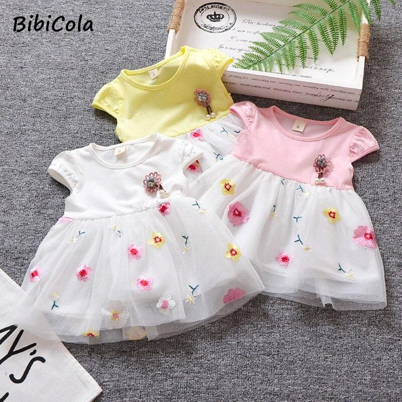 BibiCola Baby Girls Dress For Girl Birthday Newborn Toddler Cotton Lace Dresses Kids Casual Clothes Vestido Infantil