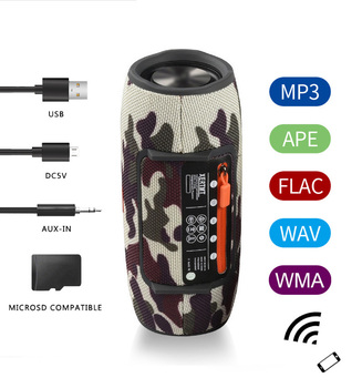 Wireless Bluetooth Super bass Speaker Waterproof Portable Outdoor Mini Column Loudspeaker sport hifi boombox stereo fm subwoofer 3