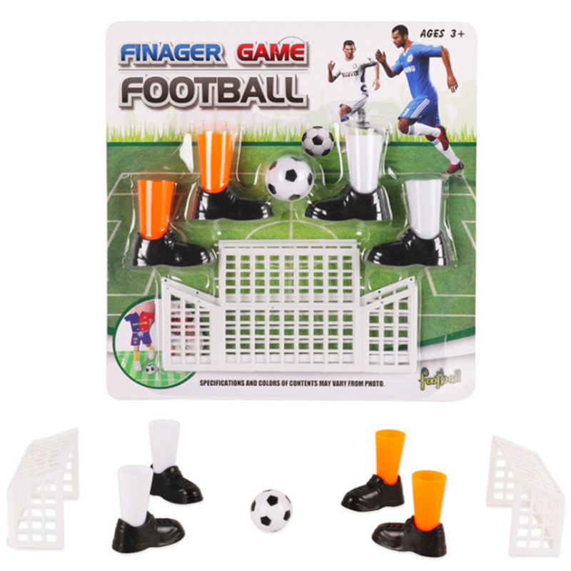 Finger Soccer Game Finger Footballs Match Toys Funny Finger Toys Table Game Set with Two Goals for Fans Club Party Gifts for Kid(China)