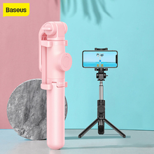 Baseus Drahtlose Bluetooth Selfie Stick Stativ Telefon Halter Kamera Stativ Fernbedienung Mobile Halter Für iPhone Huawei Android
