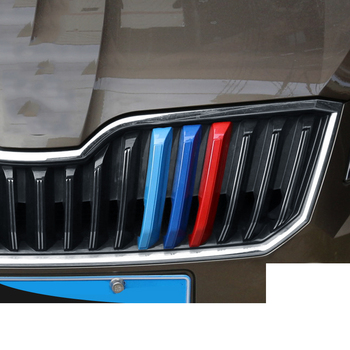 Lsrtw2017 Abs Car Front Grill Middle Net Trims for Skoda Octavia a7 Superb Interior Mouldings Accessories lsrtw2017 car door sill threshold trims for kia kx5 sportage forte rio 2016 2017 2018 2019 2020 interior mouldings accessories