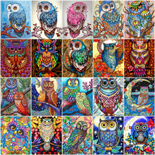 Painting by Numbers Huacan-Pictures Canvas Art Home-Decor Gift DIY on Animal