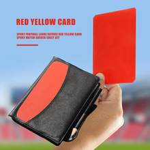 Sport Football Large Referee Red Yellow Card Sport Match Soccer Sheet Set(China)
