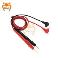 1 par sonda Universal prueba Pin para multímetro Digital, punta de aguja medidor Multi metro del probador de plomo Sonda de Cable de lápiz 10A