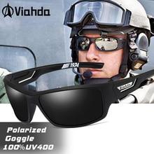 VIAHDA الاستقطاب النظارات الشمسية الرجال مصمم HD القيادة نظارات شمسية موضة الذكور الصيد نظارات UV400 gafas دي سول
