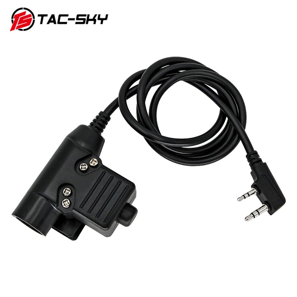 TAC-SKY PTT U94 PTT Upgraded Version Of The New Plug Tactical PTT U94 Military Tactical Headset Walkie-talkie Adapter Ptt U94