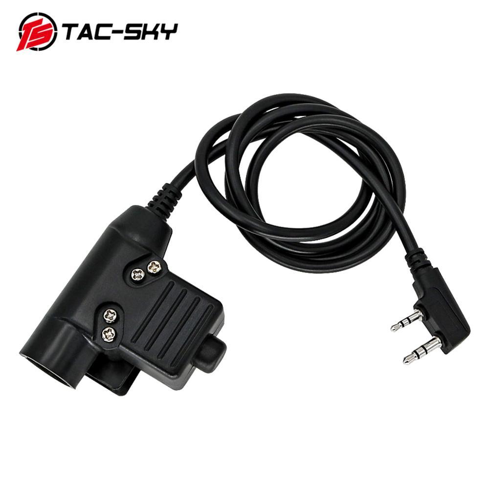 TAC-SKY PTT U94 PTT Upgraded Version Of The New Plug Tactical PTT U94 Military Tactical Headset Walkie-talkie Adapter Ptt U94