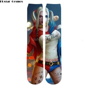 Anime clown characters Plstar Cosmos jack skellington socks Cartoon 3d socks High Socks Men Women high quality Halloween-5 high quality carnival circus creepy giggles halloween clown head mask