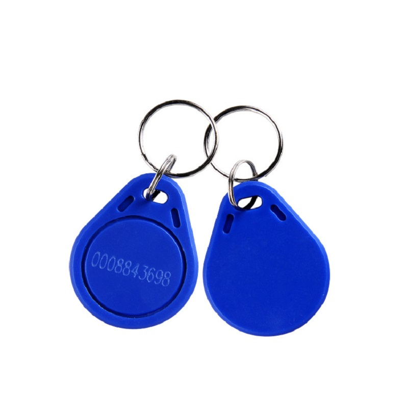 1pcs Only Read RFID ID Key Card Tags Keyfobs Proximity Token Access TAG Keychain 125KHZ EM4100 With Ring