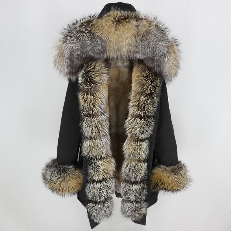 OFTBUY Waterproof Long Parka Winter Jacket Women Real Fur Coat Natural Fox Fur Collar Hood Thick Warm Streetwear Detachable New 8