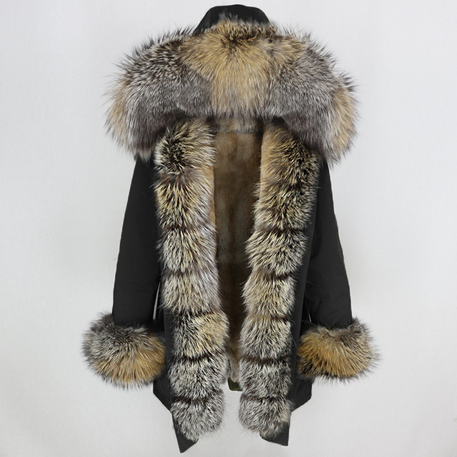 OFTBUY Waterproof Long Parka Winter Jacket Women Real Fur Coat Natural Fox Fur Collar Hood Thick Warm Streetwear Detachable New 1