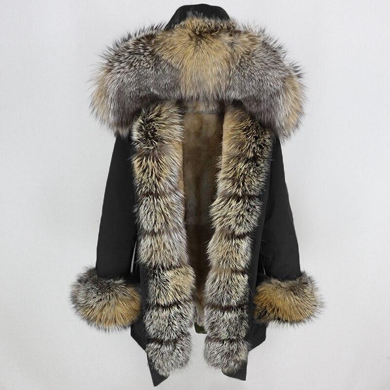 Oftbuy 방수 롱 파커 겨울 자켓 여성 리얼 모피 코트 천연 여우 모피 칼라 후드 두꺼운 따뜻한 streetwear 분리형 신규-에서리얼 퍼부터 여성 의류 의  그룹 1