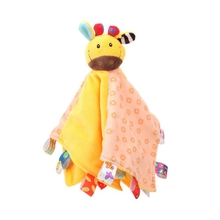 5 цветов детские мягкие плюшевое игрушечное животное игрушка успокаивать младенцев Полотенца Веселые погремушки Playmate спокойным игрушки