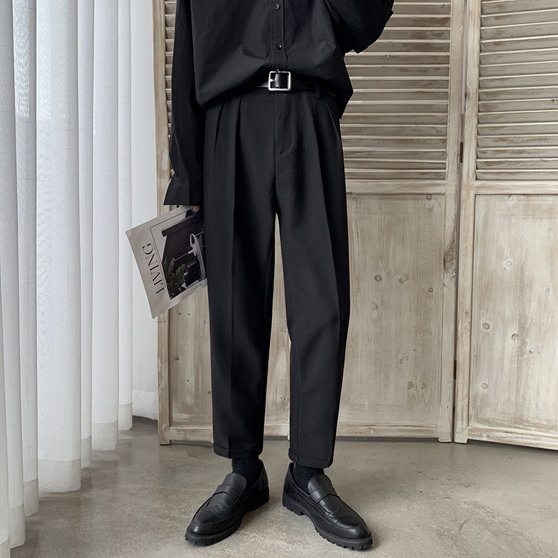 Men's Western-style Trousers Male Loose Leisure Casual Pants Business Design Cotton Suit Pants Formal Trouser Suit Size M-2XL