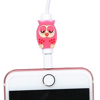 FFFAS Cartoon zabezpieczenie kabla zorganizować USB oplot na kable dla Apple IPhone 4 5 5S 6 6s 7 8 X Plus kabel ochrony śliczna dekoracja