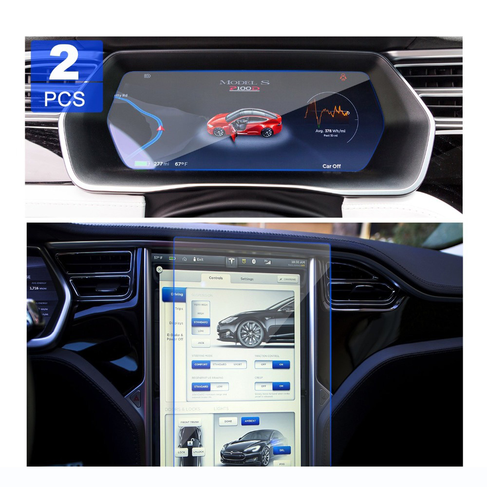 Auto Screen Protector UV Protection Install Fit For Tesla Model X S Navigation