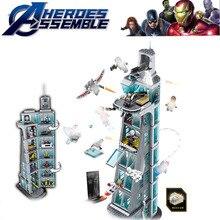 Avengers Tower 7th Floor Building Blocks Marvel Super Heroes Figures Compatible Legoings Bricks Avenger B816