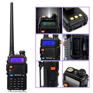 Image 5 - راديو محمول لاسلكي تخاطب 4 قطعة USB تهمة Retevis 5 واط RT5R 128CH VHF UHF ثنائي النطاق لاسلكي للهواة الإرسال والاستقبال 2 طريقة راديو RT 5R