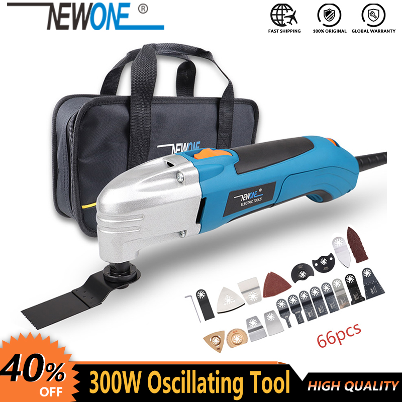 NEWONE 120V 220V 300W Electric Multi-function Oscillating Tool Kit Renovator Multi-Tool Tool Electric Trimmer Saw Accessories