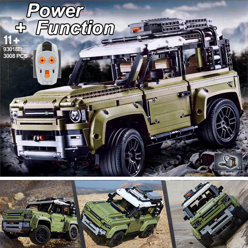 Lepinblocks Technic Car Series 42110 Land Rover Defender With Motor 2830PCS Model BuildingToys For Children 93018