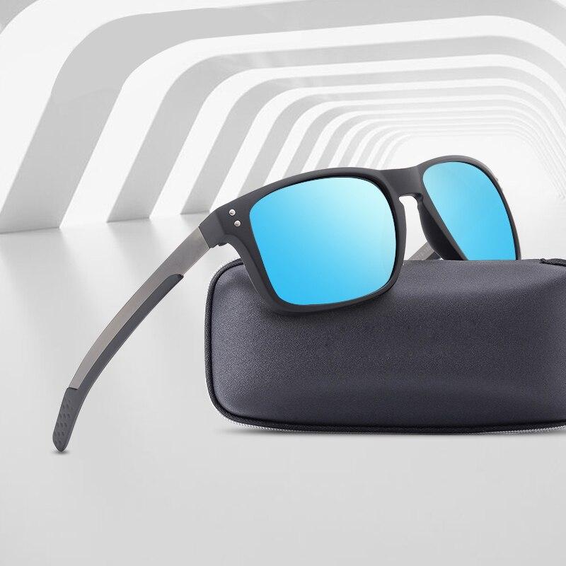 Fashion Men Polarized Sunglasses Outdoor Frame Square Sports Driving Goggles