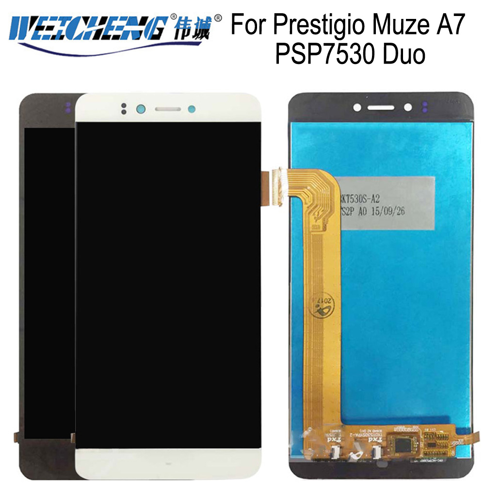 WEICHENG For Prestigio Muze A7 PSP7530 Duo LCD Display +Touch Screen Assembly For PSP 7530 lcd Digitizer +free tools image