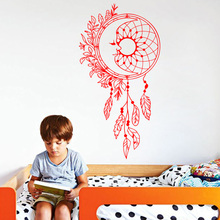 Art Design Home Decoration PVC Dreamcatcher Wall Sticker Removable House Decor Creative Beautiful Decals LW150 creative home decoration girl s eyes design removable wall art sticker