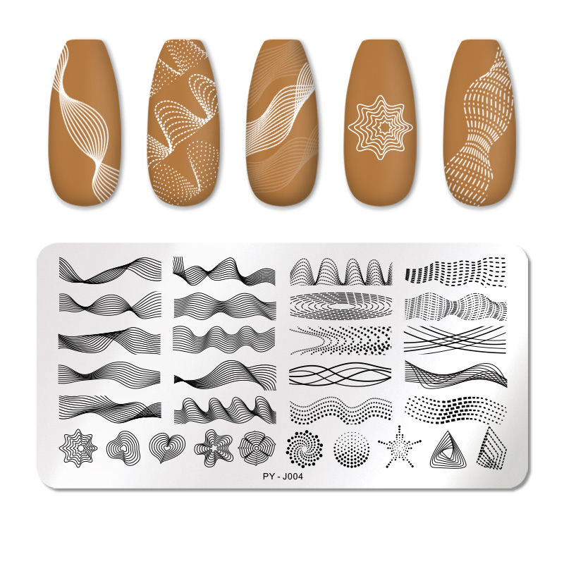 PICT YOU 12*6cm Nail Art Templates Stamping Plate Design Flower Animal Glass Temperature Lace Stamp Templates Plates Image 45