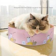 Когтеточка для кошек устройство заточки когтей из гофрированной