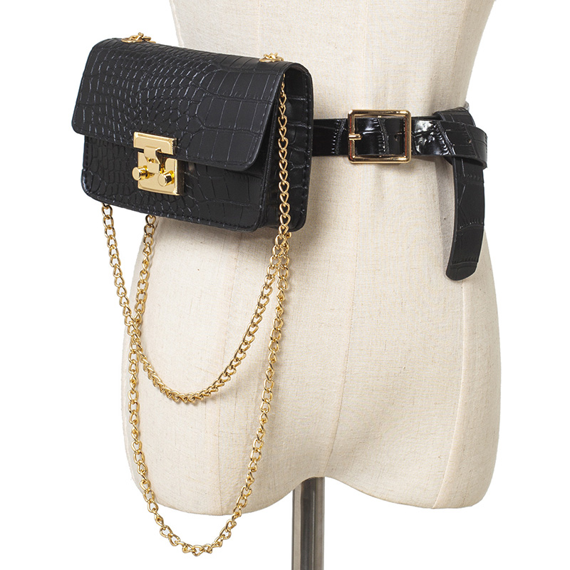 Waist Bag For Women Belt Bag Luxury Brand Designer Fanny Pack Hip Package Fashion Chain Crossbody Bags Waist Packs Phone Purse