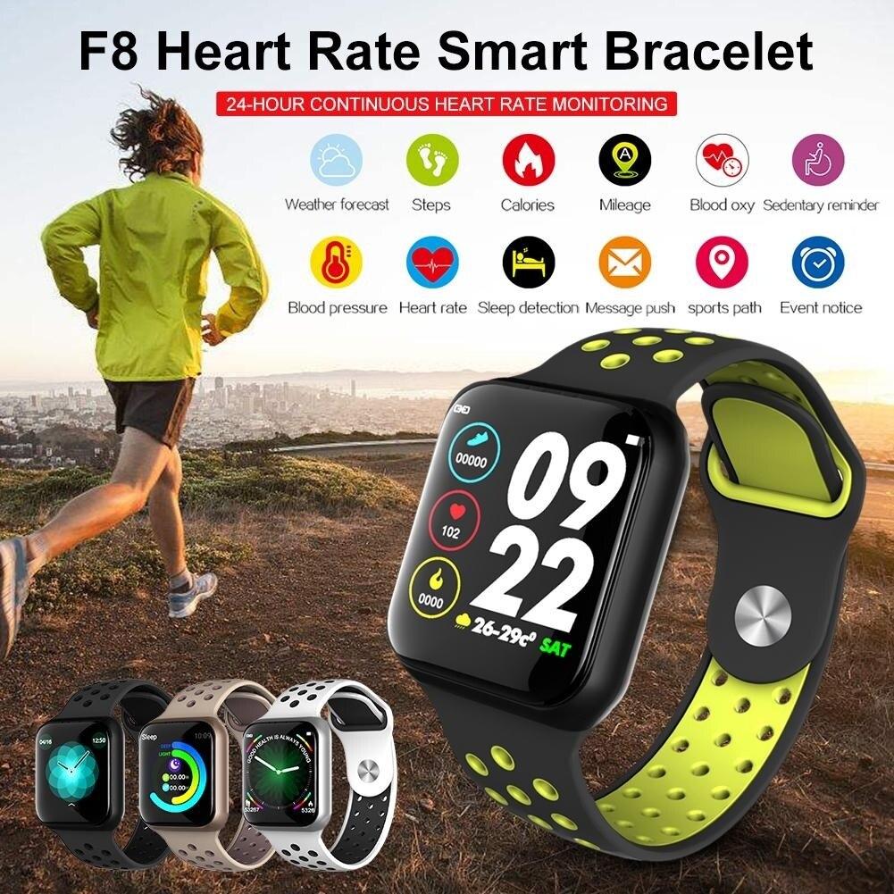 Reloj inteligente Smatwatch reloj deportivo podómetro Monitor de ritmo cardíaco en tiempo Real reloj inteligente para todos los teléfonos inteligentes