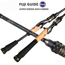 Volin Fuji Rings Spinning Rod 1.8m1.98m L UL ML Ultralight Carbon Spinning Casting Fishing rod for 2 Sections