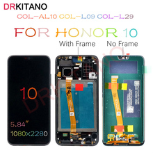 DRKITANO Màn Hình Cho Huawei Honor 10 Màn Hình Hiển Thị LCD COL L29 Màn Hình Cảm Ứng Với Khung Cho Danh Dự 10 Màn Hình LCD + Vân Tay thay Thế