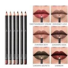 6 шт./компл. 36 цветов водонепроницаемый прочный карандаш для губ матовая помада-карандаш для губ Макияж