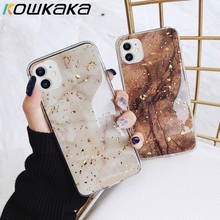 Kowkaka Marble Phone Case For iPhone 11 Pro Max X XR XS 6 6s 7 8 Plus 12 Mini Luxury Gold Foil Vintage Pattern Fundas Back Cover