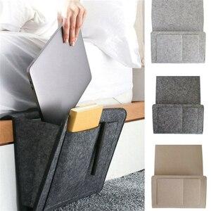 Bedside Storage Organizer Hanging Caddy Bed Holder Pockets Bed Pocket Sofa Organizer Pockets Book Felt Bed Holder Pockets(China)