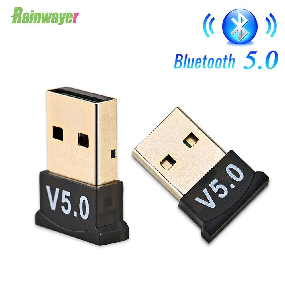 Беспроводной USB Bluetooth 5,0 4,0 адаптер, передатчик, музыкальный ресивер, мини BT5.0 ключ, аудио адаптер для компьютера, ПК, ноутбука, планшета