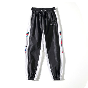 Mens leggings pants with japanese anime print joggers sweatpants for fall fashion drawstring sport streetwear hip hop harem pant