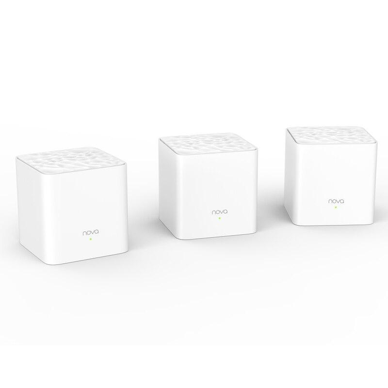 Tenda Nova MW3 весь дом сетки гигабитный Wi-Fi Системы с AC1200 2,4G/5,0 ГГц Wi-Fi Беспроводной маршрутизатор Easy комплект, приложение дистанционное управлени...