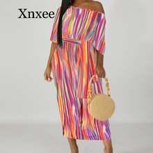 Платье женское средней длины с открытым плечом свободное пикантное