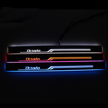 Led Pedaal Verlichting Voor Skoda Octavia A5 A7 Moving Welkom Pedaal Auto Dorpel Instaplijsten Pathway Licht